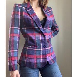 Vintage Jerrie Lurie plaid blazer